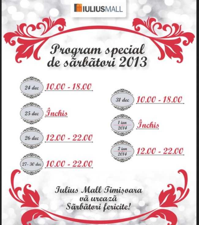 Program Iulius Mall Timisoara 1 Decembrie Download
