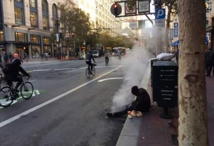 "San Francisco, vazut din taxi: Cersetori si mizerie, contrast cu case ingrijite si ""oameni chill"" [FOTO]"