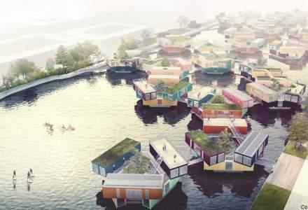 Un startup danez vrea sa revolutioneze modul in care locuiesc si traiesc studentii din facultate: cum arata casele plutitoare