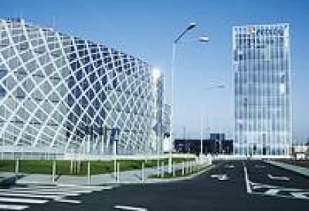 Ce suprafata de sticla au fatadele cladirilor de birouri din Capitala