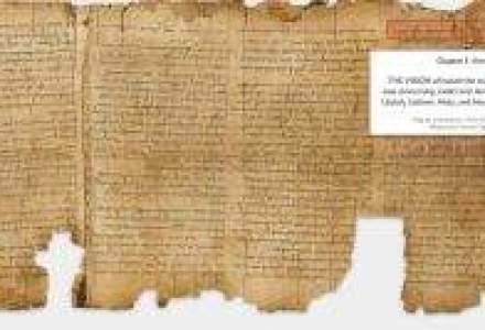 Dupa 2.000 de ani: Google digitalizeaza cele mai vechi manuscrise biblice [VIDEO]