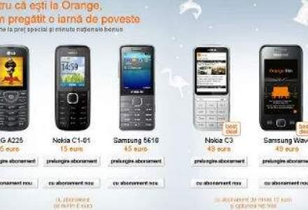 Orange lanseaza oferta de sarbatori: telefoane de la 5 euro si minute nationale bonus