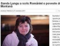 Sanda Lungu a scris Romaniei...