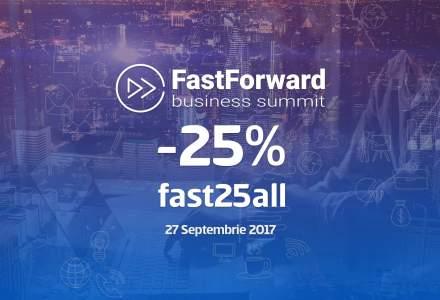Antreprenori cu povesti exceptionale, la Fast Forward Business Summit: analizam succesul si solutiile gasite pentru a trece peste piedicile din dezvoltarea afacerii