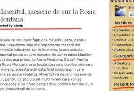 Mineritul, meserie de aur la Rosia Montana