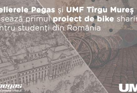 Biciclete gratis pentru studenti: Pegas si UMF Tirgu Mures, proiect de bike sharing