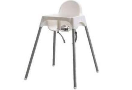 IKEA recheama centurile de siguranta ale unor scaune pentru copii