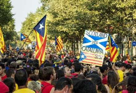Parlamentul regiunii Catalonia a votat pentru inceperea 'procesului constitutiv' de separare de Spania