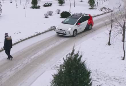 O companie din Rusia a realizat primele teste pe zapada cu taxiuri autonome