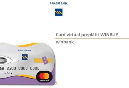 Piraeus Bank a lansat un card virtual preplatit: ce poti face cu Winbuy si care sunt costurile de utilizare