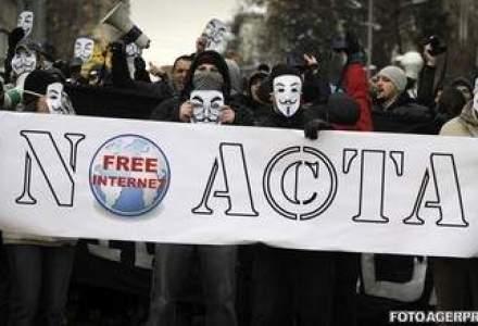 "Proteste la Sofia: 4.000 de bulgari au manifestat sub sloganul ""ACTA la Vista Baby!"""