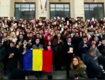 Protest mut al studentilor la...