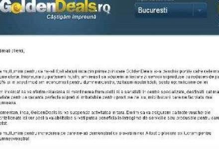 GoldenDeals.ro se inchide. Sursa: Activitatea din Romania nu a multumit actionarii