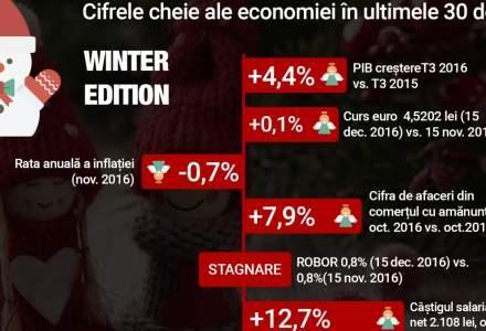 Infografic lunar - indicatorii macroeconomici din decembrie