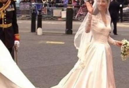 Rochia de mireasa a lui Kate Middleton aduce britanicilor 9 milioane de euro