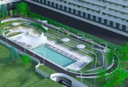 Genesis Property investeste 1,5 mil. euro intr-o piscina exterioara inconjurata de o pista de alergare si roller blading in parcul de afaceri West Gate