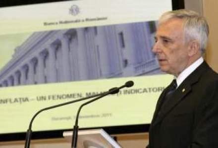Isarescu confirma: BNR a franat relaxarea monetara din cauza evolutiilor politice