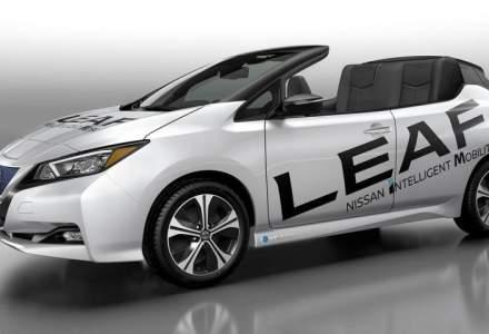 Nissan ne lasa cu gura cascata! Cum arata o versiune decapotabila a modelului Leaf?