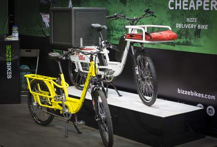 """Romanii de la BizzBikes lanseaza """"prima bicicleta electrica pentru livrari"""""""
