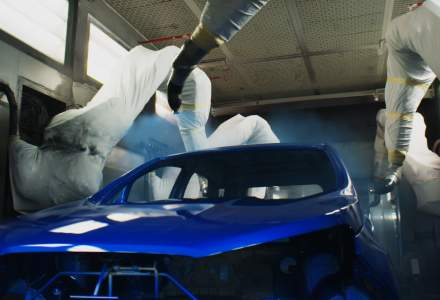 VIDEO: Proces tehnologic unic de vopsire la Uzina Ford din Craiova