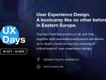 (P) UX Days: primul boot camp...