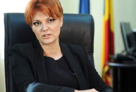 Lia Vasilescu: Salariul minim creste de la 1 decembrie, iar salariile vor fi diferentiate in functie de studii