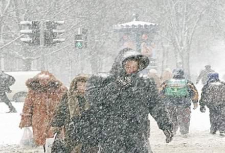 Cod galben de ninsori si viscol in 17 judete din sud si sud-est si vreme deosebit de rece in restul tarii