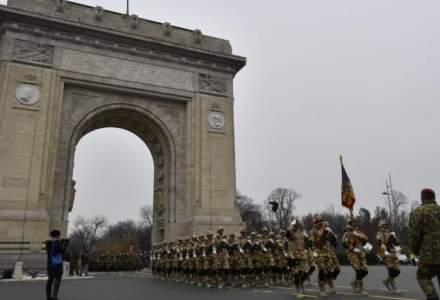 Parada militara de 1 Decembrie: 4.000 de militari si specialisti, 200 de mijloace tehnice si 50 de aeronave
