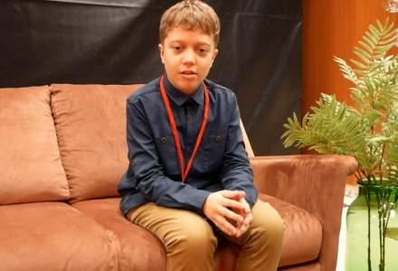 Andrei Tudor (10 ani), pasionat de stiinta: Robotii ar merita sa fie construiti nu doar pentru ca au suflet, ci pentru ca pot ajuta omenirea