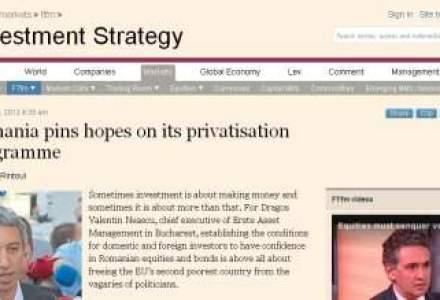Financial Times scrie despre importanta privatizarilor pentru piata de capital romaneasca