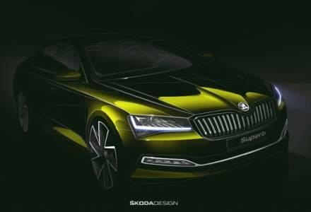 Prima schita oficiala pentru Skoda Superb facelift: lansarea va avea loc la Bratislava, in cel mult 3 saptamani