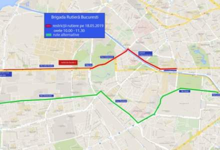 """In Bucuresti au loc, sambata, cinci evenimente care impun restrictii de circulatie: mitingul PNL, doua crossuri, un mars si """"Simfonia Apei"""""""