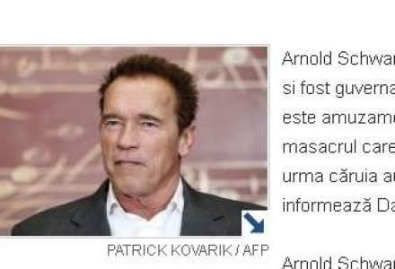 """Schwarzenegger sustine ca filmele violente nu ar trebui """"condamnate"""" pentru masacre"""