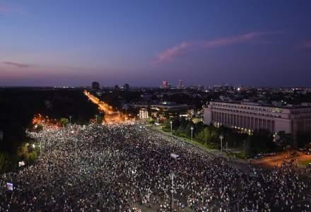 24.000 de persoane au protestat in Bucuresti. Manifestatia se incheie fara incidente majore