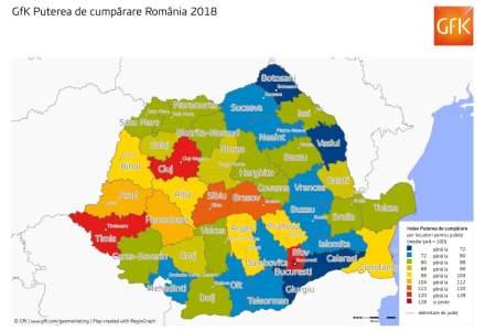 Ce regiuni din Romania au cea mai mare putere de cumparare
