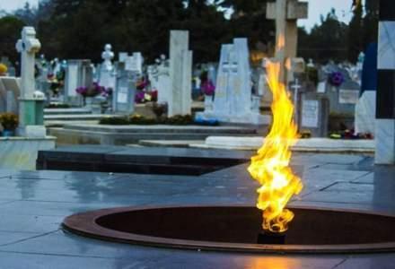 Flacara eterna din Cimitirul Eroilor, Timisoara, s-a stins pentru ca primaria n-a mai platit gazul