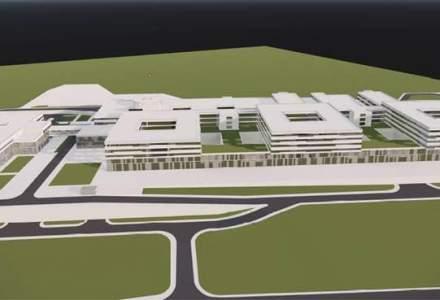 Spitalul Regional din Craiova va costa peste 600 de milioane de euro si va avea 7 etaje, 807 paturi, 19 sali de operatie si heliport