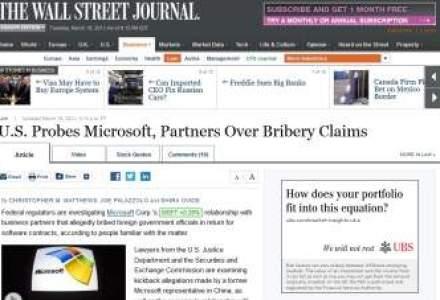 Parteneri ai Microsoft ar fi mituit oficiali al MCSI in 2008-2009. MSI: Nu validam informatiile din WSJ