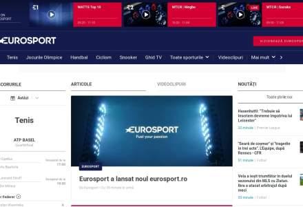 Eurosport anunta lansarea noului website eurosport.ro