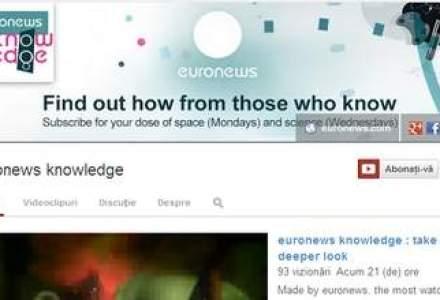 Postul de televiziune Euronews si-a lansat propriul canal pe YouTube