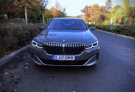 Test drive cu BMW 745e facelift - sedanul care merge 40% din timp gratis