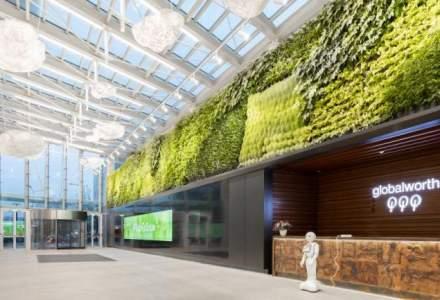 Cum arata lobby-ul inteligent din Bucuresti cu cea mai mare podea cinetica din lume dintr-o cladire de birouri