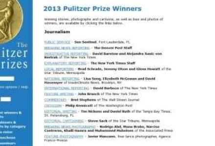 Castigatorii premiilor Pulitzer, cele mai importante premii in jurnalism