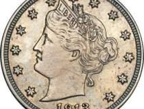 O moneda de cinci centi, din...