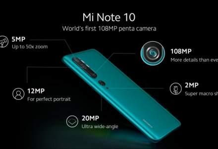 Xiaomi anunta ca Mi Note 10, primul telefon din lume cu penta camera de 108 MP, este disponibil in Romania