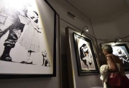 O noua creatie realizata de Banksy, dezvaluita in hotelul din Betleem al artistului