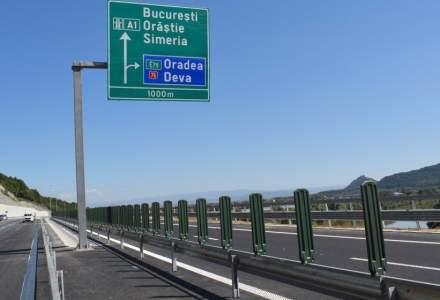 UPDATE Lotul 3 al Autostrazii A 1 Lugoj-Deva s-a deschis luni circulatiei, cu restrictii de viteza si tonaj