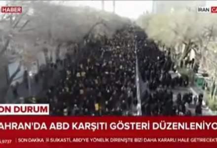 Proteste masive in Iran dupa uciderea generalului Soleimani. Tara e in doliu, prezentatorii plang la TV