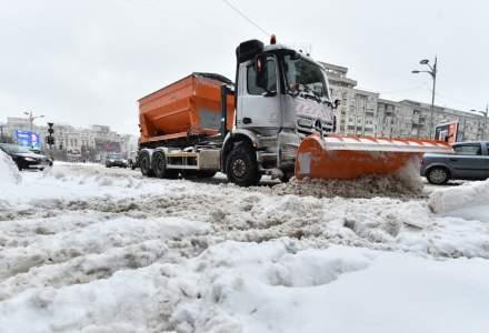 Primaria Capitalei: 358 de operatori cu 310 utilaje sunt pregatiti sa intervina in caz de ninsoare