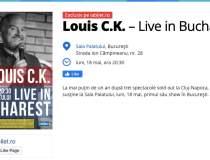 Comediantul Louis C.K. vine...